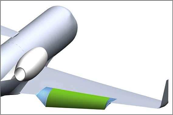 L'expérimentation Acte de la Nasa avait déjà permis de mettre au point des volets de courbure souples, permettant d'éliminer l'interstice entre l'aile et les parties mobiles. Avec ce système, le bruit est également considérablement atténué. © Nasa