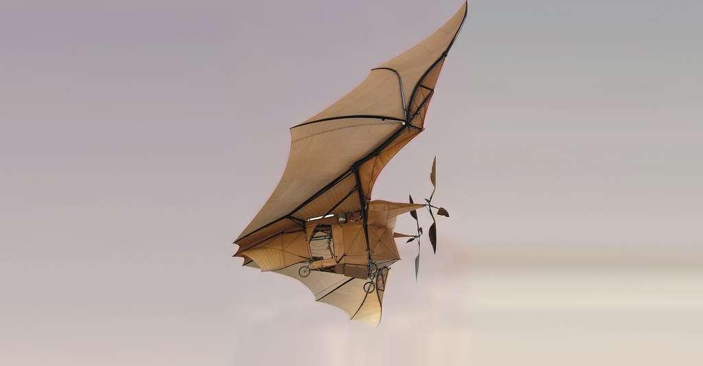 L'« avion-chauve-souris », de Clément Ader, est un exemple d'engin bioinspiré. © Roby CC by-sa 2.0