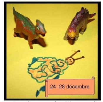 Paradoxe et calendrier cosmique. Si un extraterrestre est passé sur Terre entre le 24 et le 28 décembre du calendrier astronomique, il n'a rencontré que des dinosaures... © DR