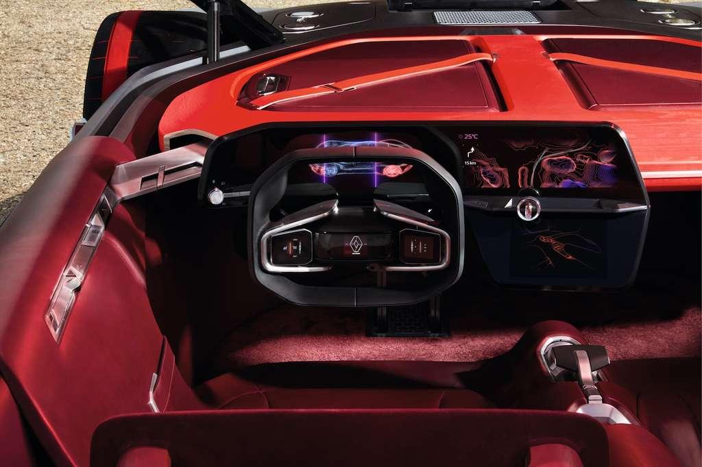 Les concepts ne restent pas à l'état d'études de style. Ainsi, on retrouve les lignes du Renault DeZir de 2010 sur la nouvelle Clio. Les prochaines gammes du constructeur devraient donc reprendre certains attributs du TreZor, aussi bien au niveau du style, que pour les innovations embarquées. La planche de bord virtuelle pourrait, par exemple, se généraliser, ainsi que les écrans tactiles sur le volant. © Renault