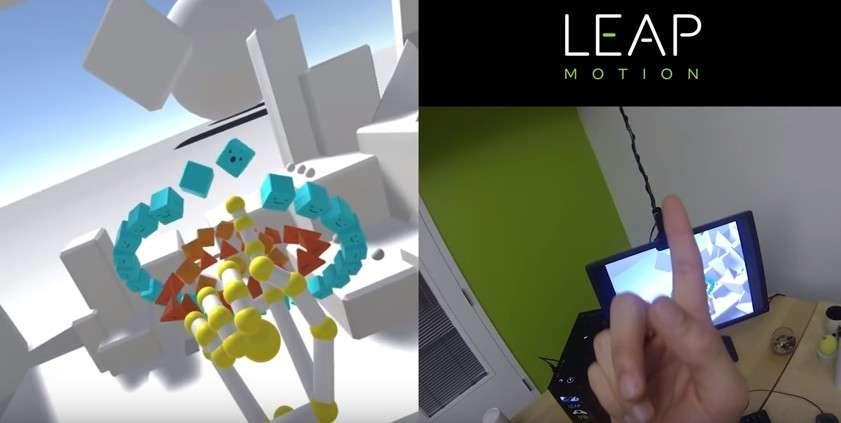Leap Motion a perfectionné sa technologie de détection des mouvements pour lui faire gagner en précision et en amplitude. Résultat, les mains virtuelles sont presque parfaitement synchronisées avec leurs avatars. © Leap Motion