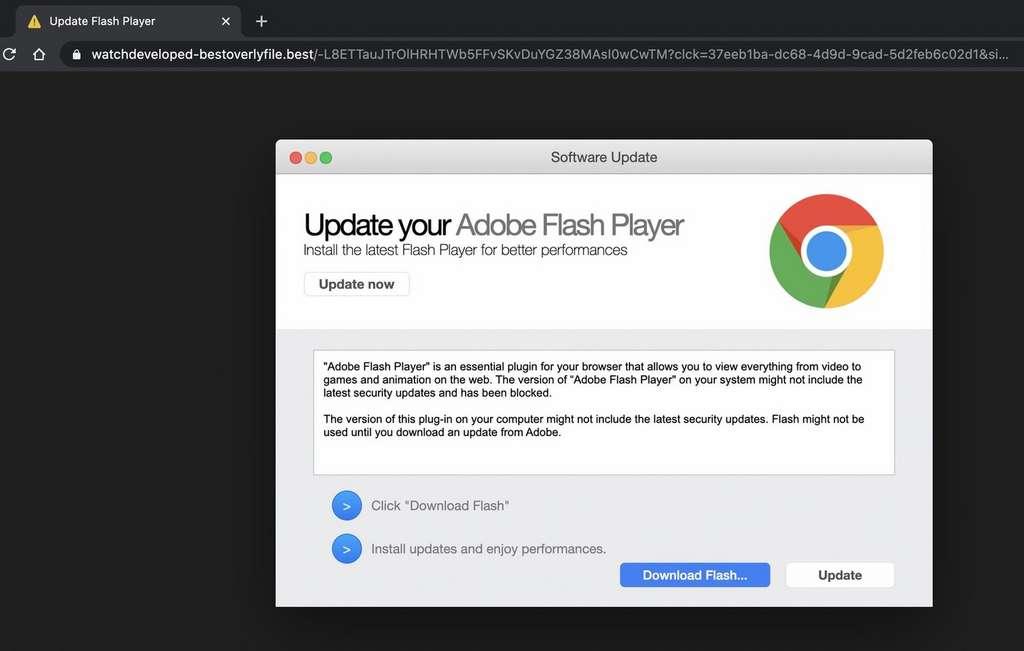 Pour piéger les utilisateurs, le malware se fait passer pour une fausse mise à jour d'un logiciel ou une application. © JAMF