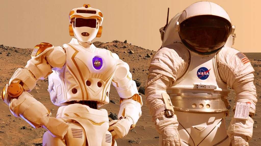 Au début, l'exploration de Mars par un robonaute, genre Valkyrie, pourrait être plus avantageuse que par un astronaute. © Nasa