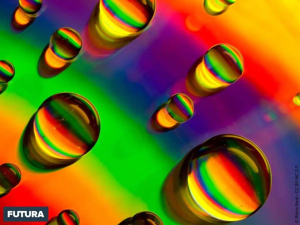 Perles d'eau fluo