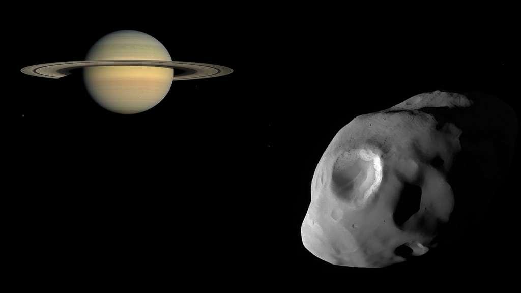 Saturne et sa lune Pandore