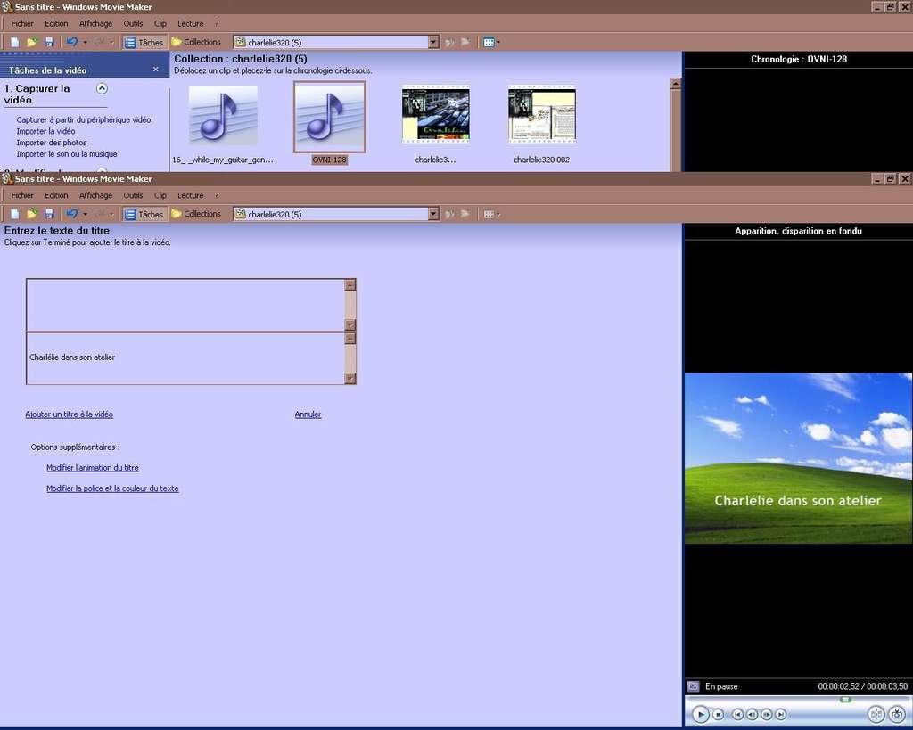 Ajouter des sous-titres à une vidéo avec Windows Movie Maker. © Windows