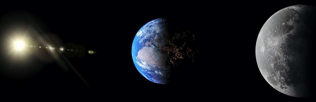 À la pleine Lune, notre satellite naturel est en opposition. © Studio-FI, Adobe Stock