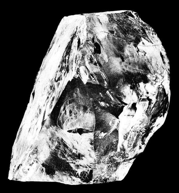 Le diamant Cullinan, figurant aujourd'hui parmi les joyaux de la Couronne britannique. © Wikimedia
