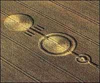 Le premier cercle, datant de 1978. A l'époque, les créateurs de crop circles faisaient simple…