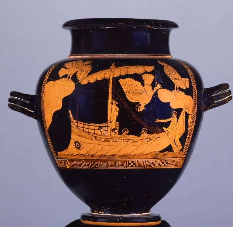 Le bateau ressemble à celui de ce vase exposé au British Museum à Londres. © The Trustees of the British Museum
