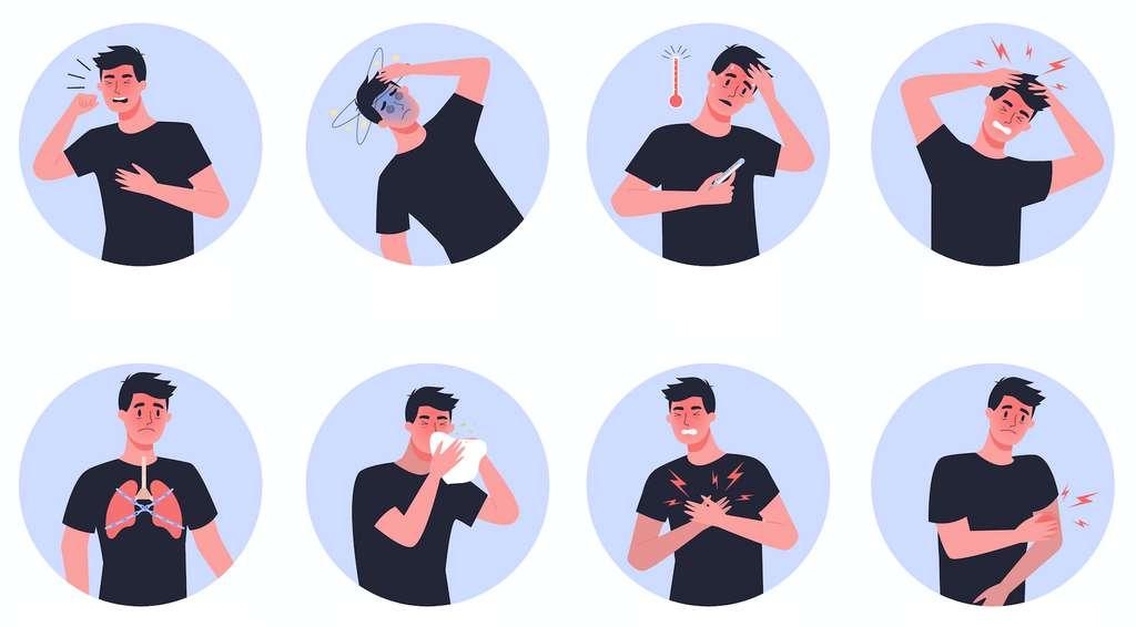 Fatigue, perte d'odorat, fièvre… Les symptômes de la Covid-19 sont très variables d'une personne à une autre. © artinspiring, Adobe Stock