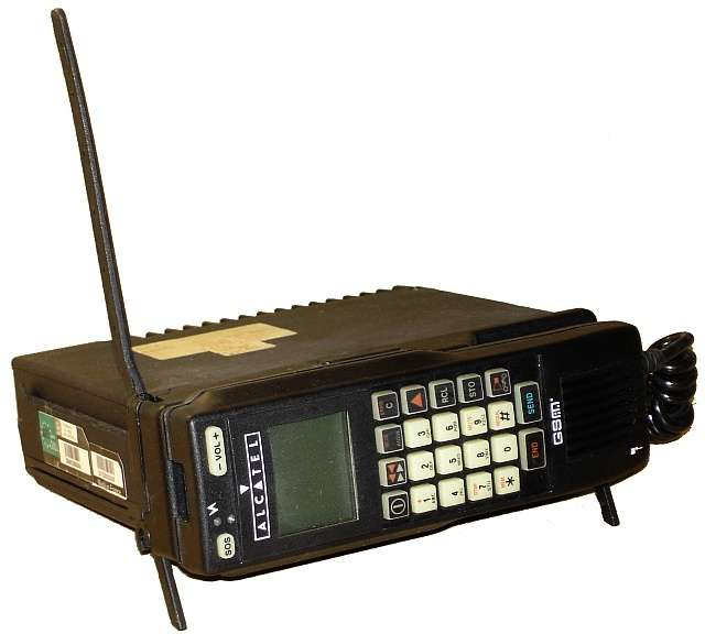 Le premier téléphone français GSM a été celui de la marque Alcatel. © Lerouxdnl, Wikipédia, CC by 2.5