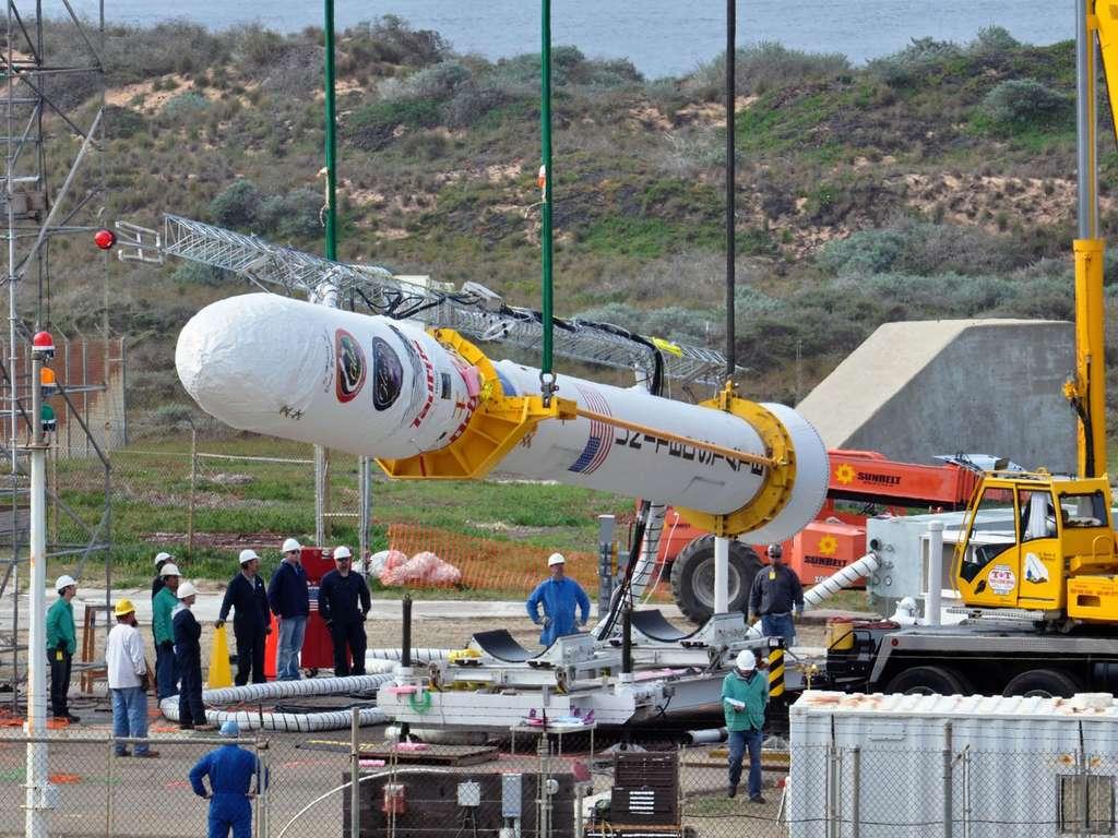 La fusée Taurus XL a échoué à mettre en orbite le satellite d'observation terrestre Glory en 2011 en raison d'un joint en aluminium défectueux. © Nasa TV