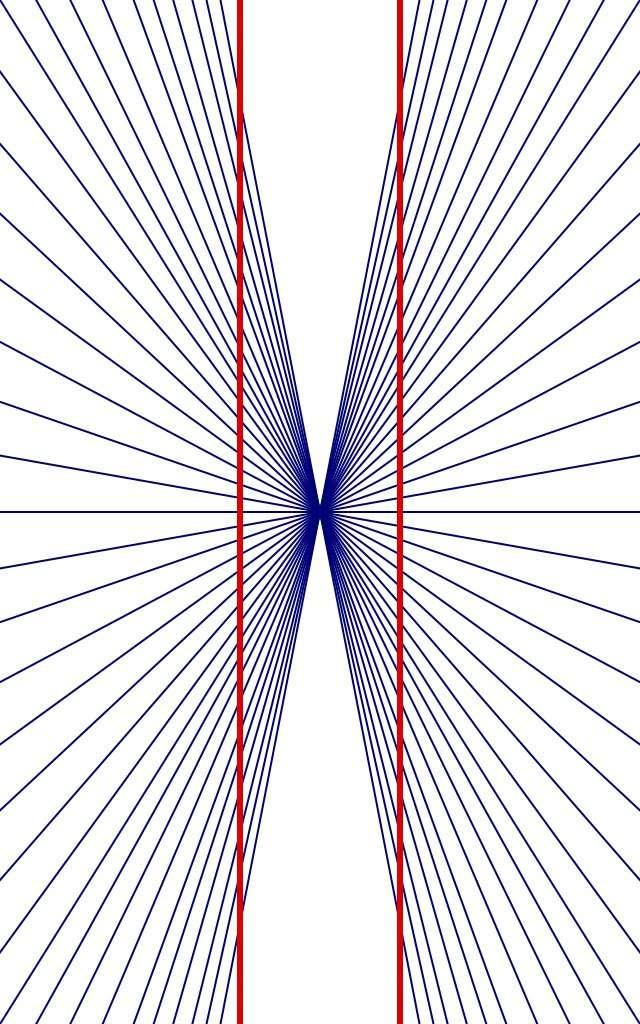 L'illusion de Hering et la distorsion