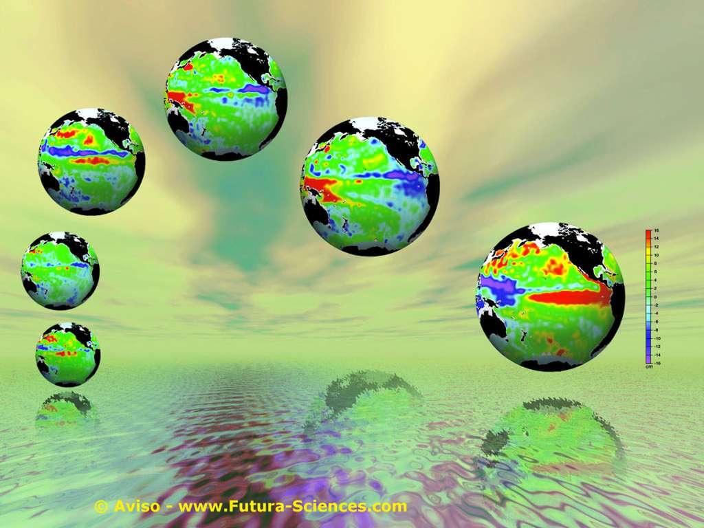 Terre via le satellite
