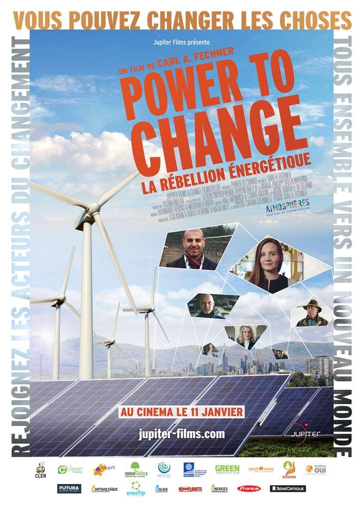 Le film Power to change , un documentaire de 1 h 30 dont Futura est partenaire, est sorti en salles le 11 janvier 2017 à Paris et commence sa diffusion en France dans de nombreuses grandes villes, souvent avec des débats publics à la fin de la projection. Voir toutes les séances ici. © Jupiter Films