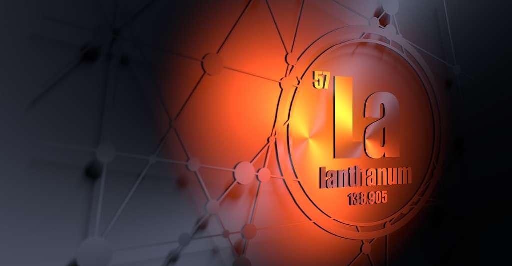 À température ambiante, le lanthane se présente sous la forme d'un métal gris, malléable et ductile. © Jegas Ra, Fotolia