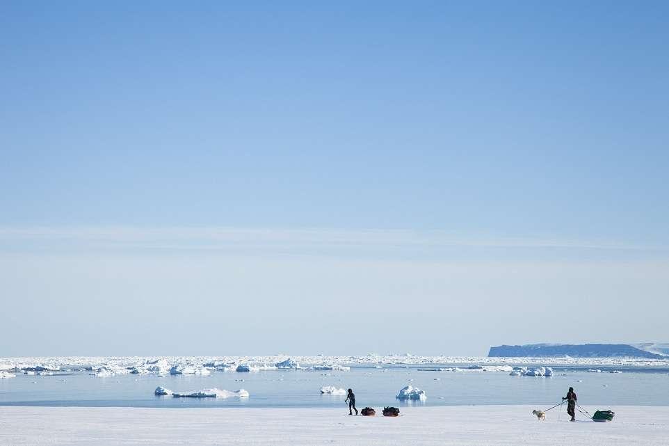 Groenland en avril 2011 lors de leur expédition de préparation
