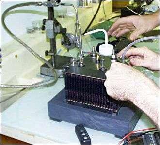 Pile à combustible de 300 watts développée par le CEA. Crédit CEA