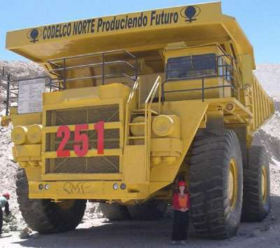 Chili camion de mine