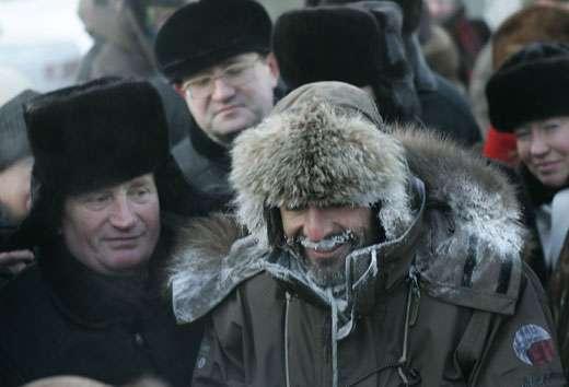 Rencontres lors de l'arrivé à Tomsk © Alexey Bushov - Toute reproduction ou utilisation interdite