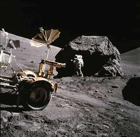 Exploration de la Lune par Apollo 17. Crédits : NASA/Apollo 17/NSSDC