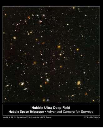 Figure 7 : Image la plus profonde du ciel réalisée par le télescope spatial Hubble. © Domaine public