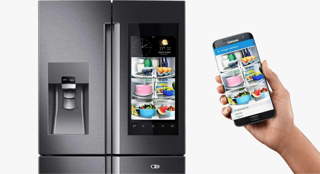 Un exemple de fonctions des nouveaux réfrigérateurs de Samsung. © Samsung Electronics