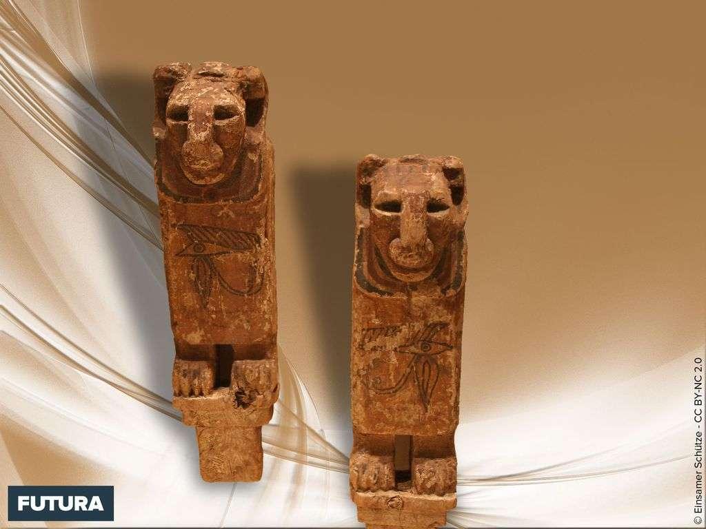 Lions antiquités égyptiennes