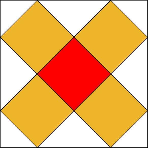 Le carré rouge au centre du problème. © H. Lehning