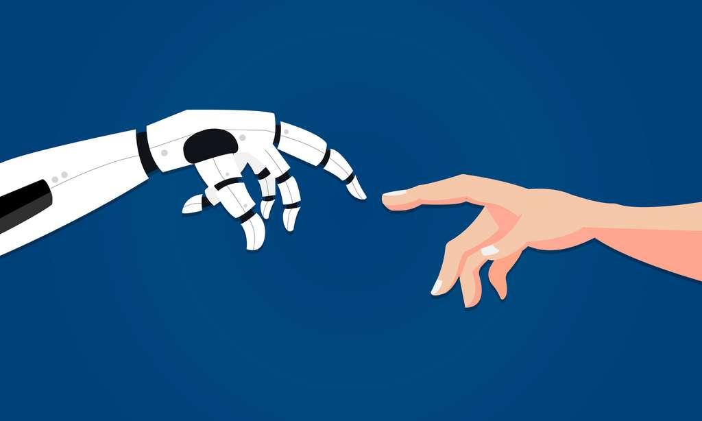 Humains et robots vivant ensemble, pour le plus grand confort de l'Homme. Telle est l'ambition de l'U.S Robots. © Evz, Fotolia