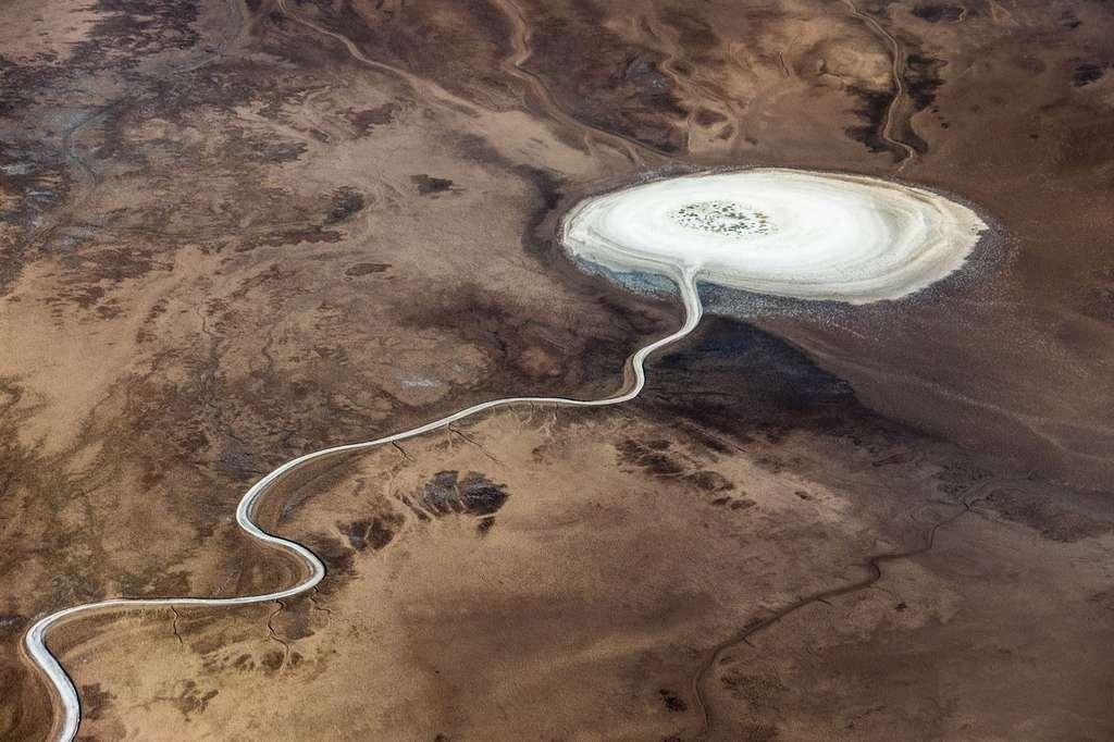 Lac asséché dans la Vallée de la mort