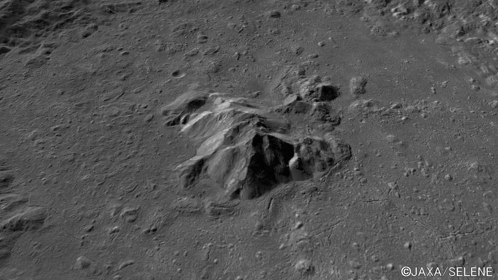 Le pic central du cratère Tycho vu par Kaguya