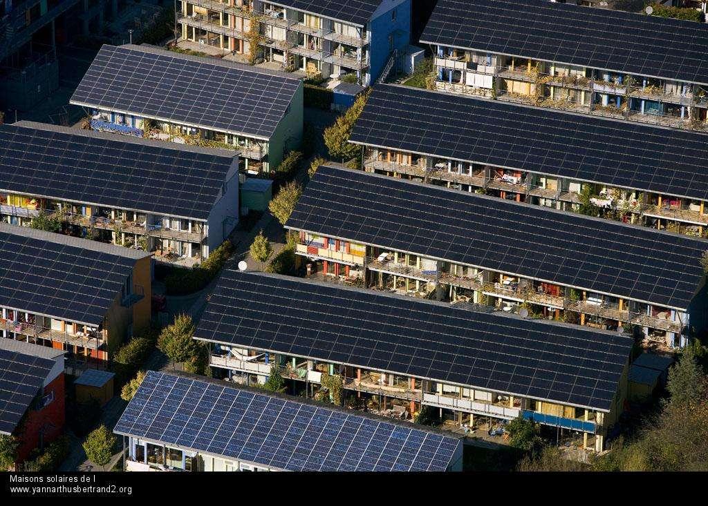 Des maisons solaires d'un écoquartier en Allemagne