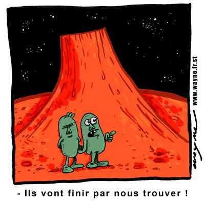 Des images de Mars révèlent une activité volcanique et de glaciation récent