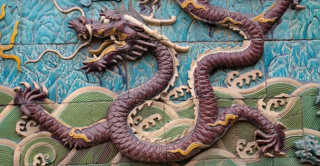 Le mur des neuf fils du dragon, à la Cité interdite