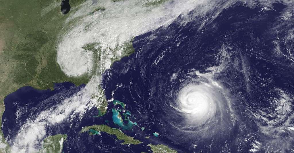 Début de cyclone sur les Acores. © NOAA Environmental Vizualization Laboratory Domaine public