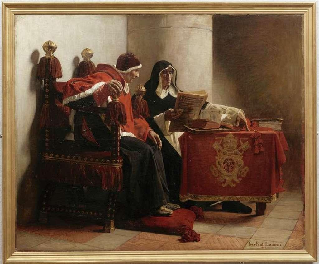 Le Pape et l'Inquisiteur par Jean-Paul Laurens en 1882. © Musée des Beaux-Arts de Bordeaux, Wikimedia Commons, DP