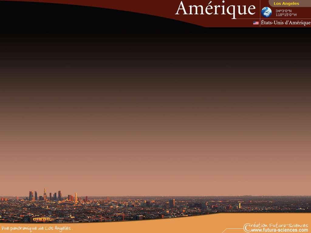 Vue panoramique de Los Angelès