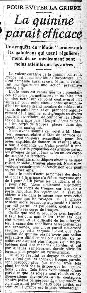 Le Matin, 22 octobre 1918. Source : gallica.bnf.fr, BnF