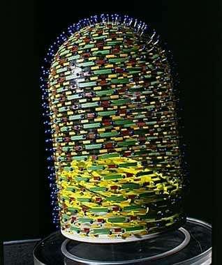 Maquette du virus de la rage - copyright M. Depardieu