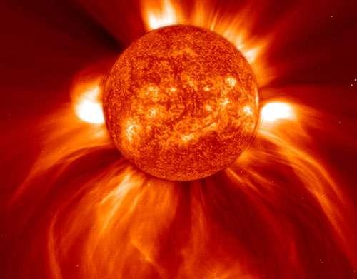 Éjection de matière coronale. © Nasa
