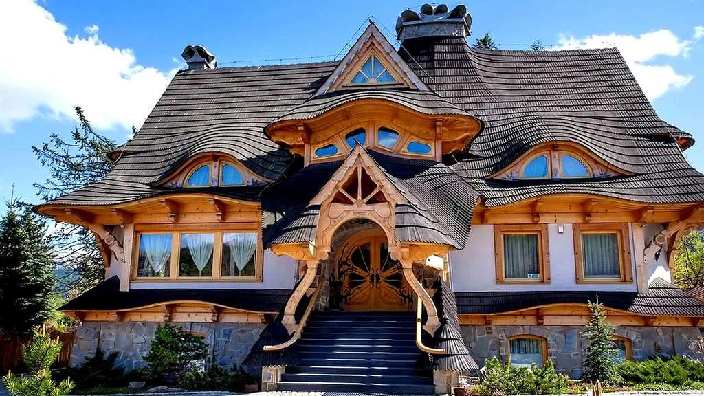 Maison en bois à Zakopane, en Pologne