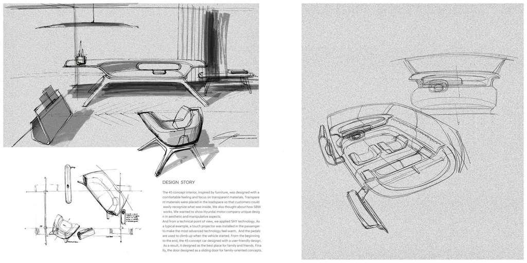 Les sièges avant pivotent pour faire face aux autres passagers © Hyundai