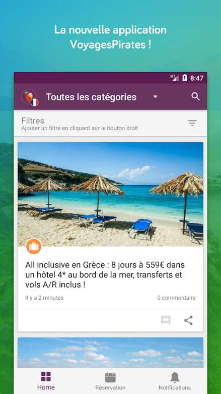 VoyagesPirates compile toutes les meilleures offres du web en matière de voyages. © Holidaypirates GmbH