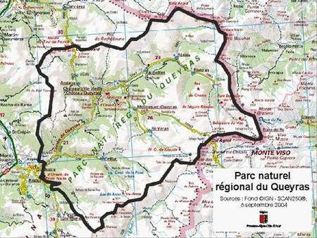 Carte Touristique Du Queyras.Trekking En Queyras Dossier