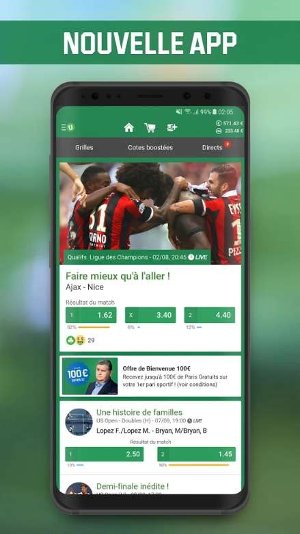 Unibet allie une interface bien conçue et une offre intéressante de paris sportifs. © Unibet