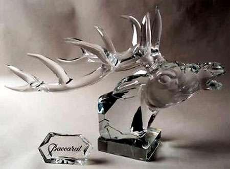 Cristal de Baccarat ; œuvre présentée au musée du cristal. © DR