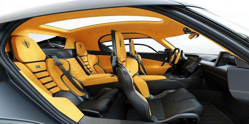 L'habitabilité de la Gemera est assez exceptionnelle pour une GT. © Koenigsegg