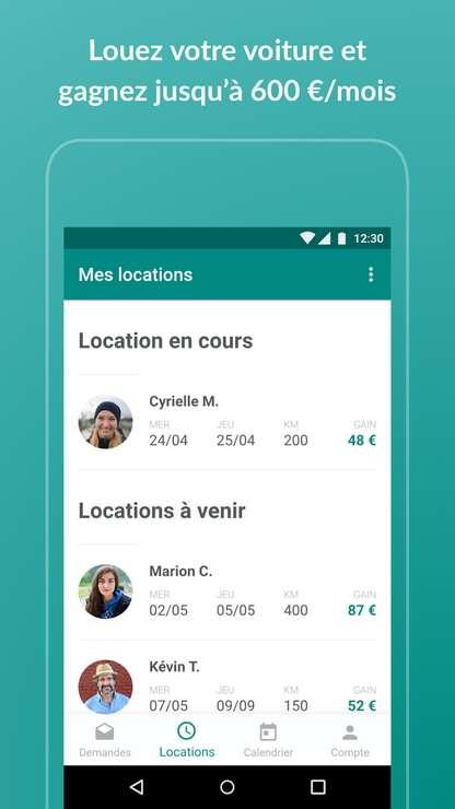 OuiCar est un service mettant en contact des particuliers pour des locations de véhicule. © OuiCar